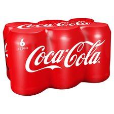 Coca Cola regular blik 6x330ml