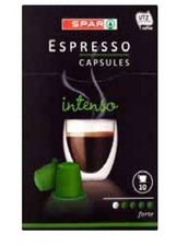 Spar Capsules Intenso 10st