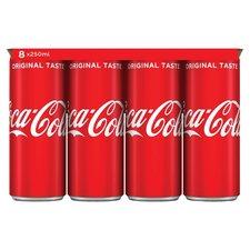 Coca Cola regular blik 8x250ml
